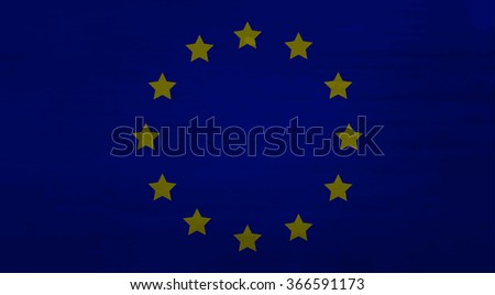 EU flag dirty. European flag, europe dirty flag, independence eurozone, government and political, unity freedom culture. Vector art abstract unusual fashion illustration