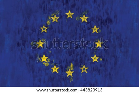 eu flag painting vector background illustration