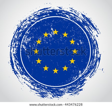 EU flag symbol.Vector flag of European Union. - stock vector