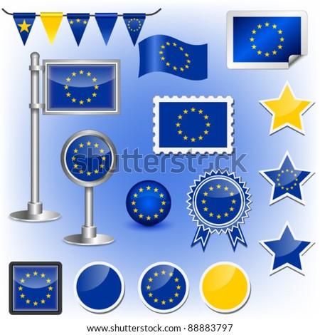 EU flag vector - stock vector