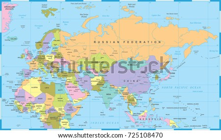 Eurasia europa russia china india indonesia vector de stock725108470 eurasia europa russia china india indonesia thailand africa map detailed vector illustration gumiabroncs Gallery