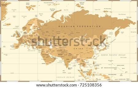 Eurasia europa russia china india indonesia vector de stock725108356 eurasia europa russia china india indonesia thailand map detailed vector illustration gumiabroncs Choice Image