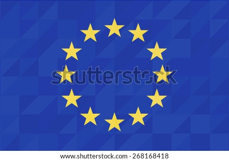 Euro flag geometric concept design. Vector background