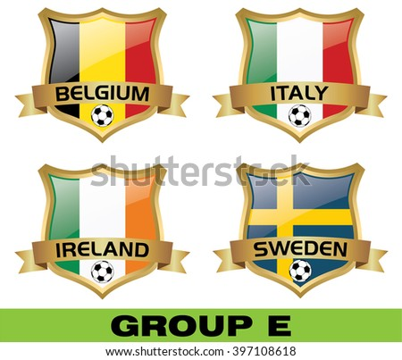 Euro 2016 Group E - stock vector