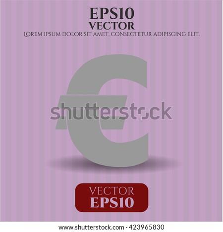 Euro icon, Euro icon vector, Euro icon symbol, Euro flat icon, Euro icon eps, Euro icon jpg, Euro icon app, Euro web icon, Euro concept icon, Euro website icon, Euro, Euro icon vector - stock vector