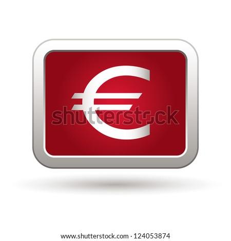 Euro icon. Vector illustration - stock vector