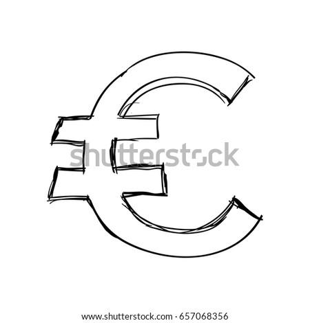 Euro Money Symbol Stock Vector 657068356 Shutterstock