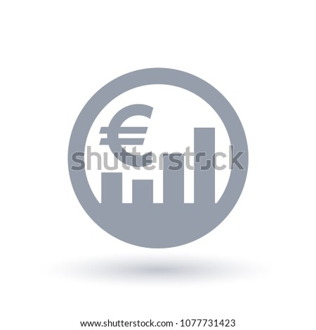 Euro Stock Market Icon European Currency Stock Vector 1077731423