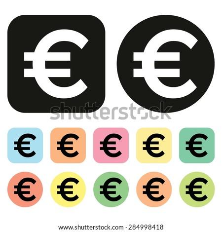 Euro symbol. EU Currency icon. Money icon. Vector - stock vector