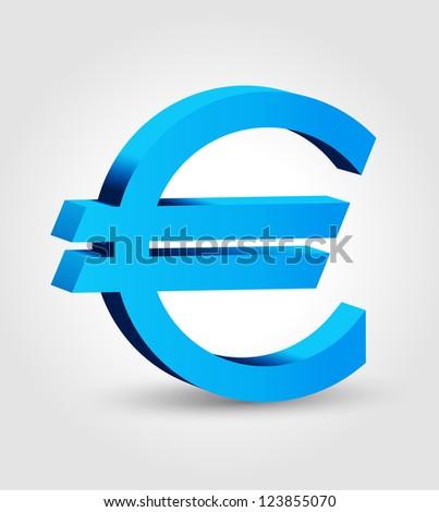 Euro symbol - european currency - stock vector