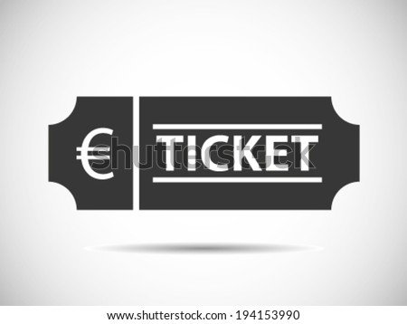 Euro Tickets - stock vector