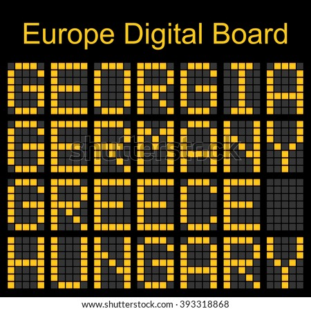 Europe airport digital boarding for Grorgia-Germany-Greece-Hungary