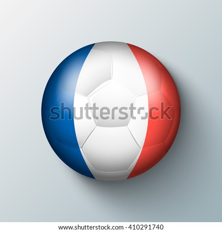 Europe championship 2016 with ball and france flag colors.
