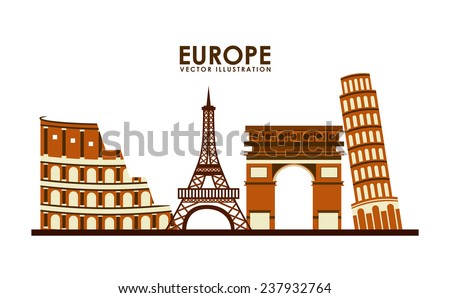 europe design - stock vector