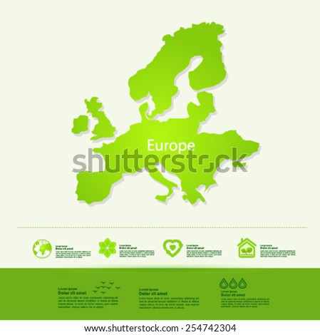 Europe ecology World Map vector illustration - stock vector