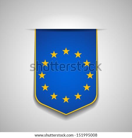 Europe flag - stock vector