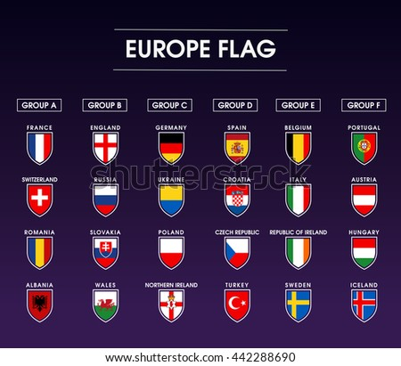 europe flag icon set 1