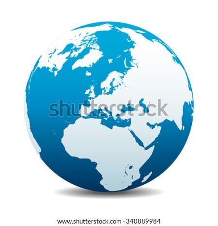 Europe Global World  - stock vector