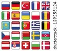 Europe Icons Squared Flags - stock vector