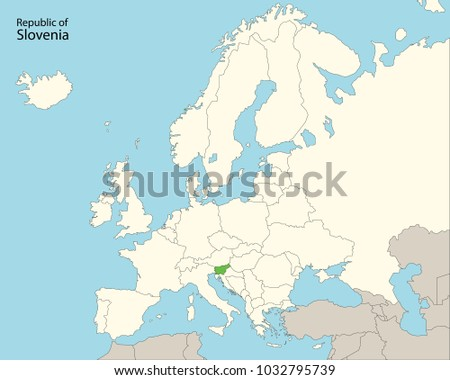 Europe Map Slovenia Stock Vector HD Royalty Free 1032795739