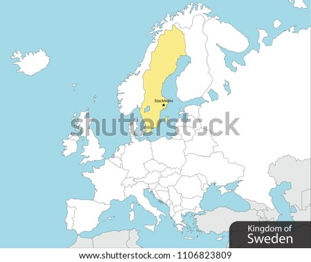 Europe map sweden capital stockholm stock vector 2018 1106823809 europe map sweden capital stockholm publicscrutiny Image collections