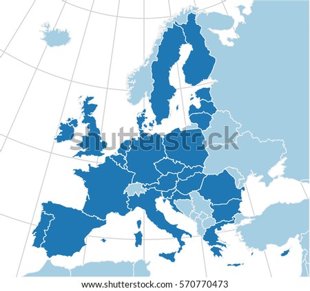 Europe map european union highly detailed stock vector 570770473 europe map with the european union highly detailed vector with separate countries polygons gumiabroncs Gallery