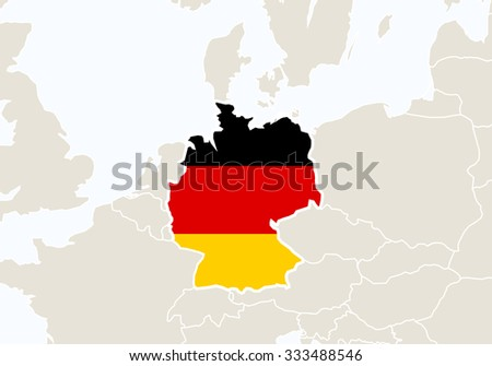 Europe highlighted germany map vector illustration stock vector europe with highlighted germany map vector illustration gumiabroncs Image collections