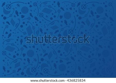 European championship 2016. Blue soccer Background. - stock vector