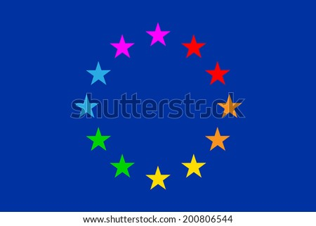 "European flag gay parade ""Euro pride"". Vector illustration. - stock vector"
