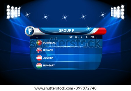 European football championship 2016 in France groups vector