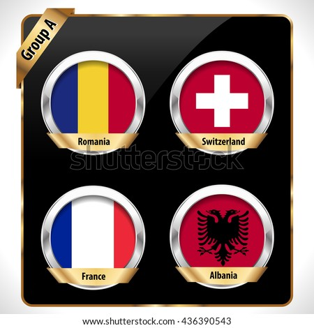 European football championship 2016 in France groups vector group A