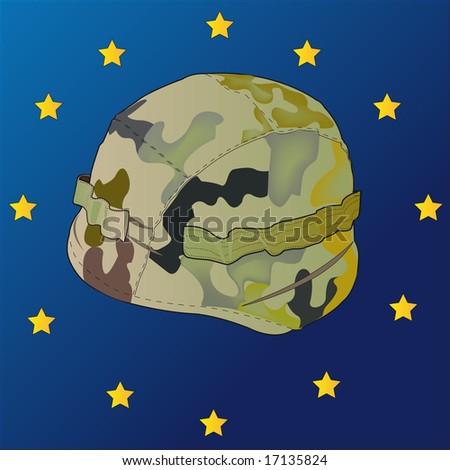 european helmet - stock vector