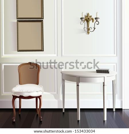 European Room - stock vector