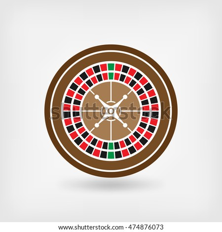European roulette wheel. casino symbol. vector illustration - eps 10