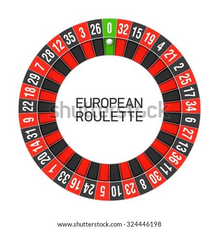 European roulette wheel. Vector. - stock vector