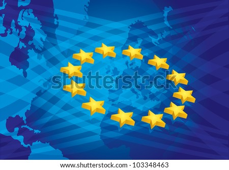 European Union, brochure, presentation template with star