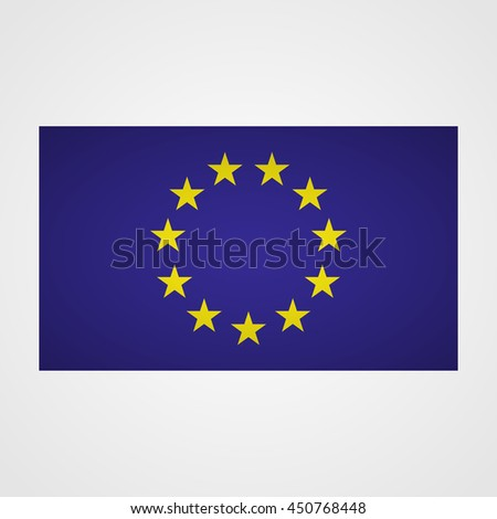 European Union flag on a gray background. Vector illustration