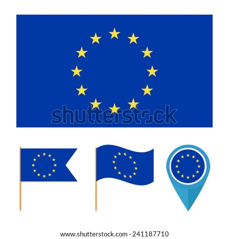 European union. icons for design with reference to a particular country. flag from the same series