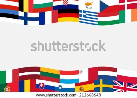 european union member nation flag banner - stock vector