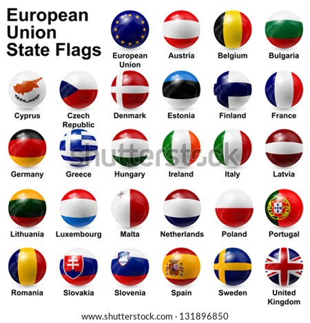 european union state flags - stock vector