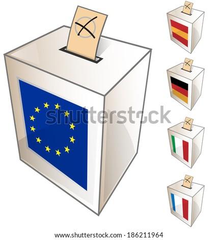 European urn symbol on white background - stock vector
