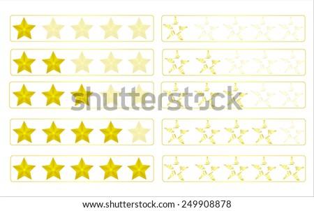 Evaluation stars - stock vector