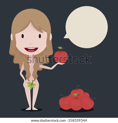 Eve illustration - stock vector