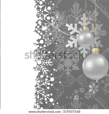 Evening balls, Christmas Card. Christmas decoration. Christmas abstract. Christmas Background. Christmas Decoration. Christmas wallpaper. Christmas abstract - stock vector