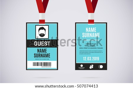 Id Card Template Stock Images, Royalty-Free Images & Vectors