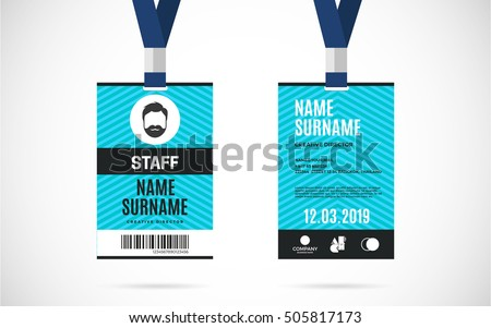 Id card stock images royalty free images vectors for Staff id badge template