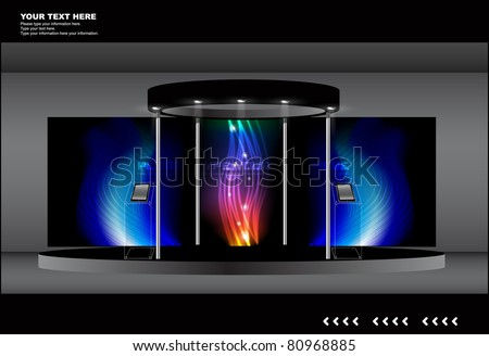 event stage / display collection - stock vector