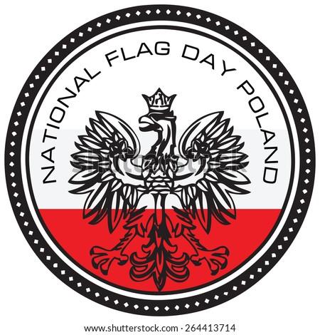 Event symbol National Flag Day Poland. Vector illustration. - stock vector