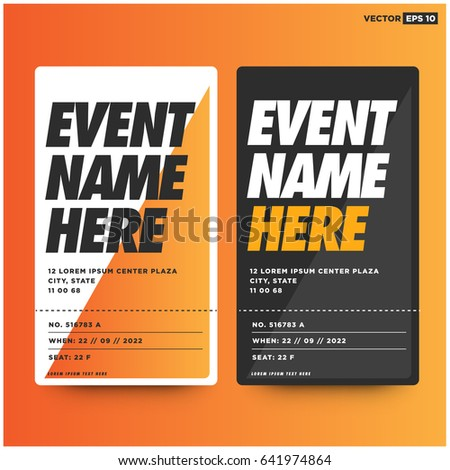 Admit Two Entrance Ticket Template Live Vector 649019734 – Dance Ticket Template