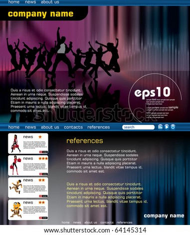 Event website template. Eps10 vector easy to editable. - stock vector